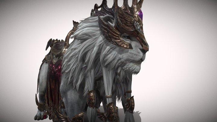 White Lion 3D Model
