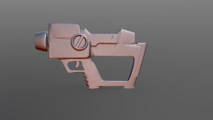 Megaman Zero Gun 3D Model