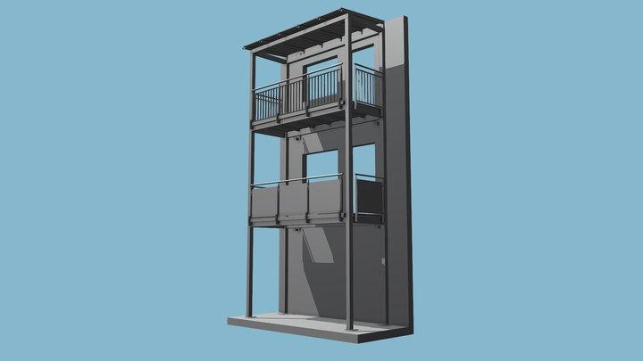 Balkon Beispiel 3D Model