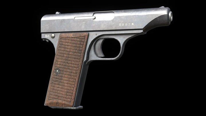 Hamada Type 1 Pistol 3D Model