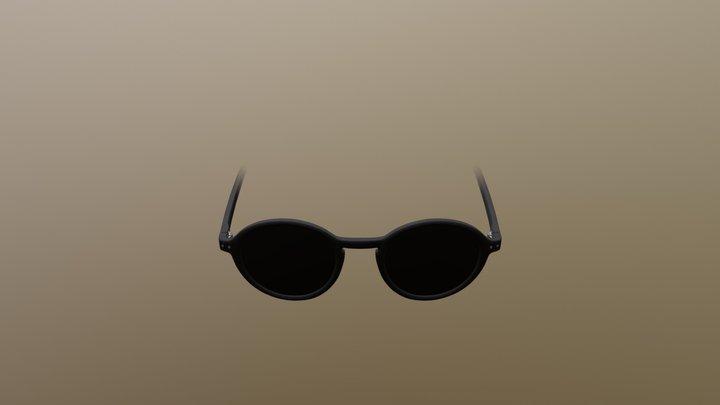 BZR Black Sunglasses 3D Model