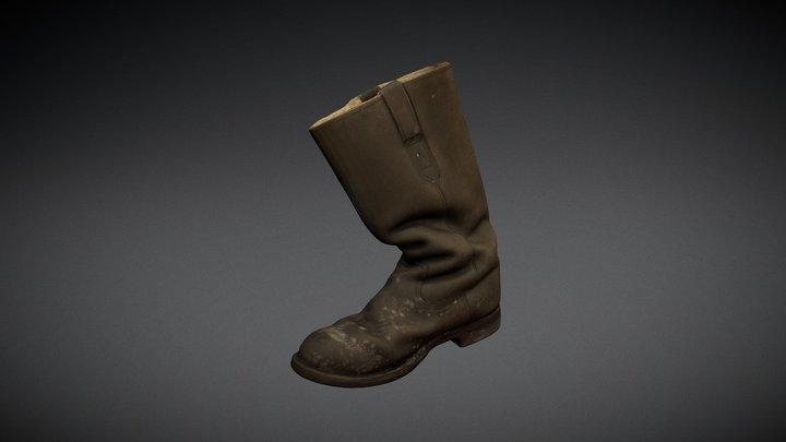 Soldier's boot 3D Model