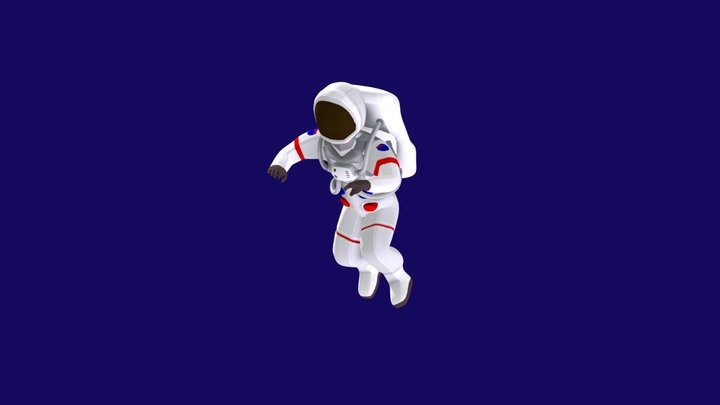 Astronaut floating in space 3D Model