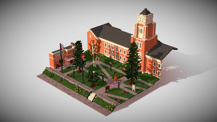 Late afternoon - Blackwell Academy 3D Model