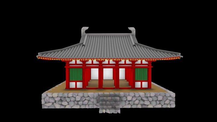 国史跡「河内寺廃寺跡」の復元金堂 3D Model