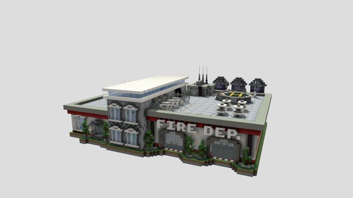 Fire Station 3D Model