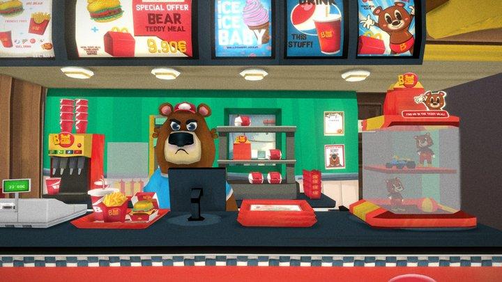 Berry's fast food 3D Model