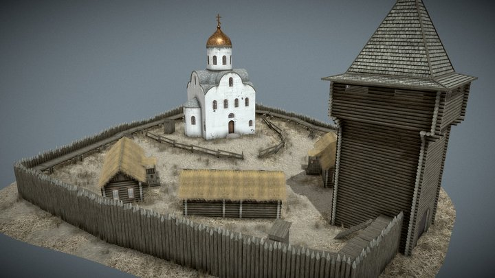 Wooden Fortress | Automapping 3D Model