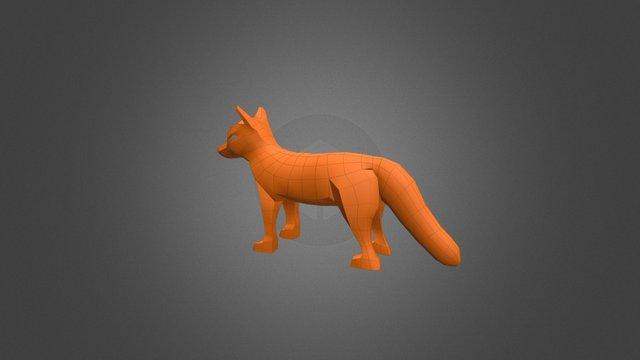 Fox Lowpoly Prototype 3D Model