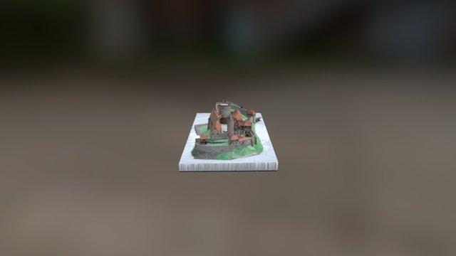 Burg Plesse Modell um 1625 V2 60% 3D Model