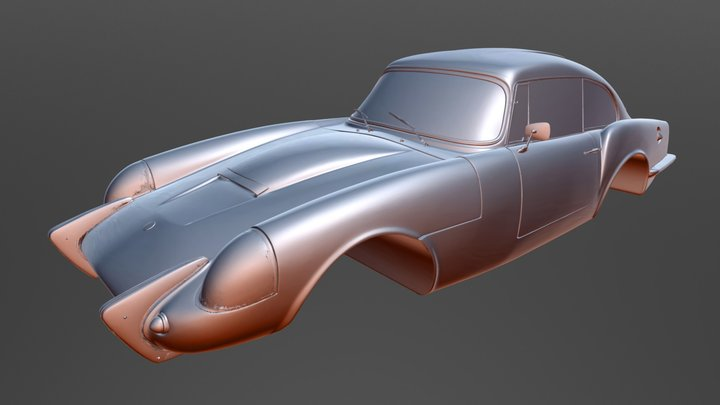 3D Scan Classic Car - Sabra 3D Model