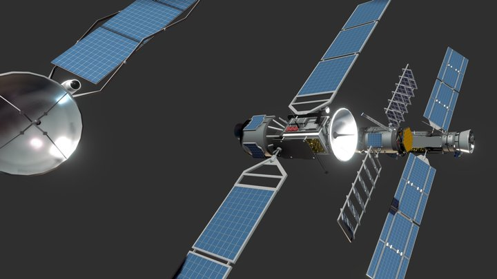 4 Satellites + Build your own Satellite kit 3D Model
