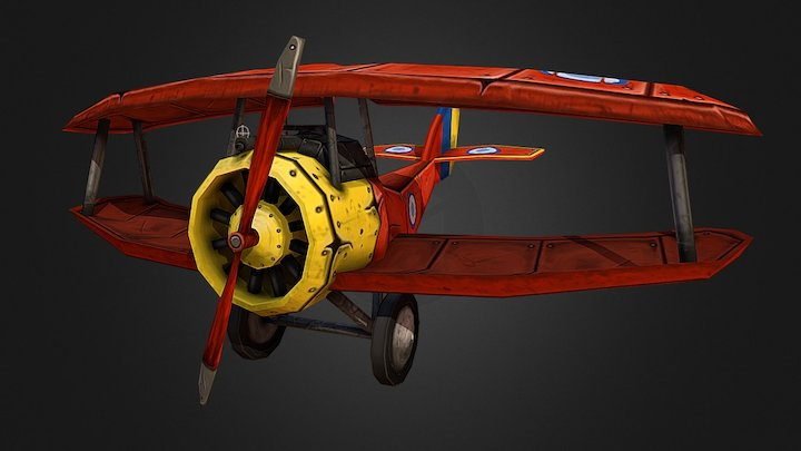 Stylized Aircraft 3D Model