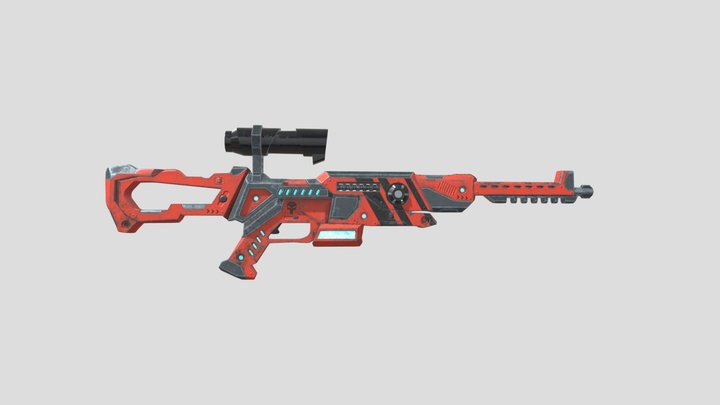 SciFi Rifle 3D Model