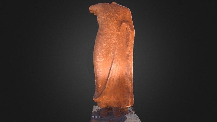 Headless Buddha Statue 3D Model