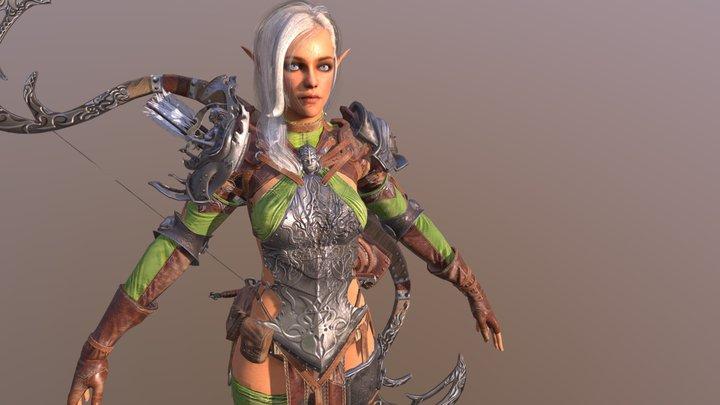 Elf girl 3D Model