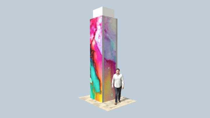 Coloana Mall 3D Model