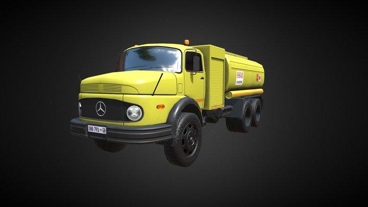 Mercedes Fuel Bowser 3D Model