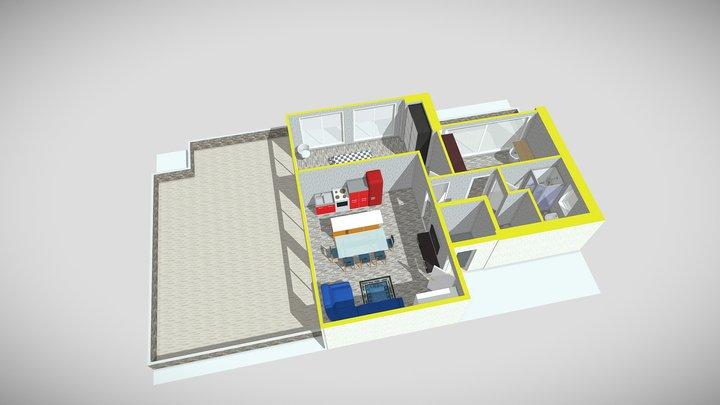 Appartamento numero 07 piano primo 3D Model