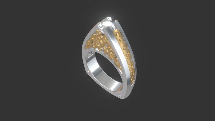 Custom Engagment Ring KT 3D Model