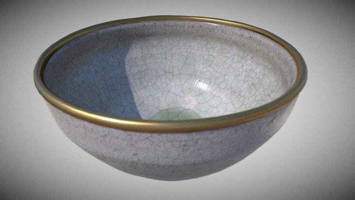Medieval Shiro Tenmoku style tea bowl 3D Model