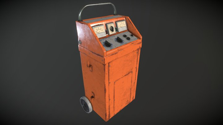 Car battery charger 3D Model