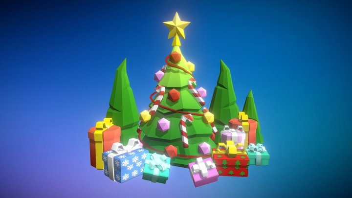 Christmas Tree POLYCRAFT 3D Model