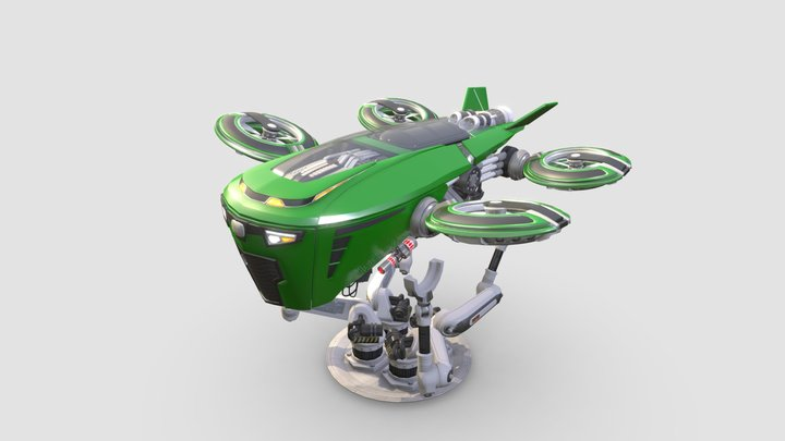 """Hover Tractor - FAIR OAKS FARMS """"WHAT IF?"""" WALL 3D Model"""