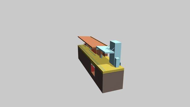 Graceville Station - Stair Section - Overlay 3D Model