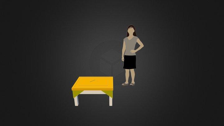 Столик заготовка 3D Model