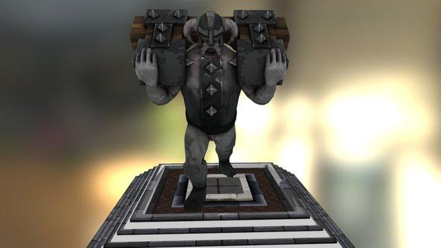 Dungeon statue - Archays RPG 3D Model