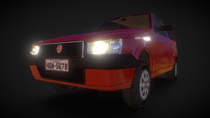 Car - Uno Mille 3D Model
