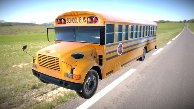 Scholar Bus 3D Model