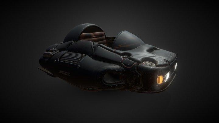 Dragon Ball Hover Car Black 3D Model