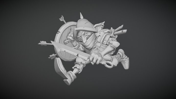 Goblin Runner (with packed lunch) 3D Model