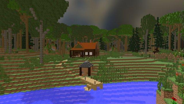 Bernheim Artist's Cabin 3D Model
