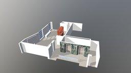 Diseno 3D Entrada Edificio 3D Model