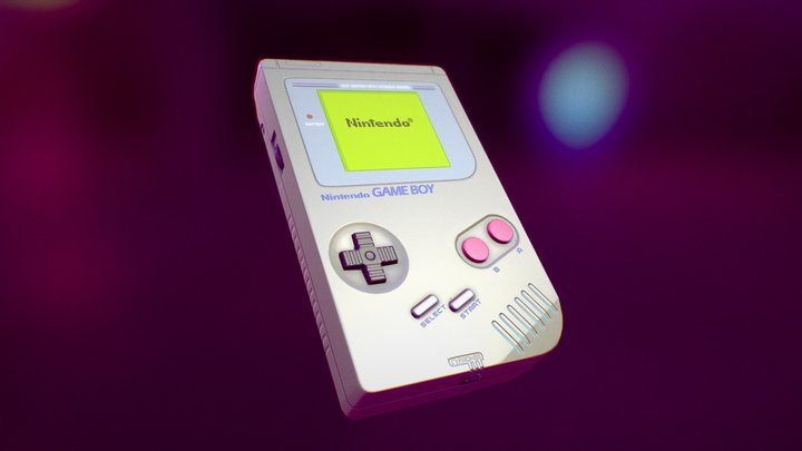 Blender GameBoy 3D Model