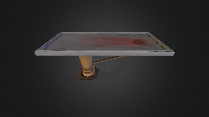 Surgery Table Cartoon Style 3D Model