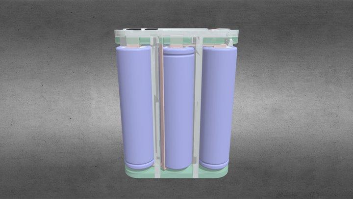 Battery 2P3S 18650 3D Model