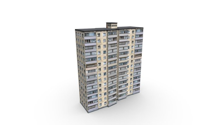 Fourteen-storey house 3D Model