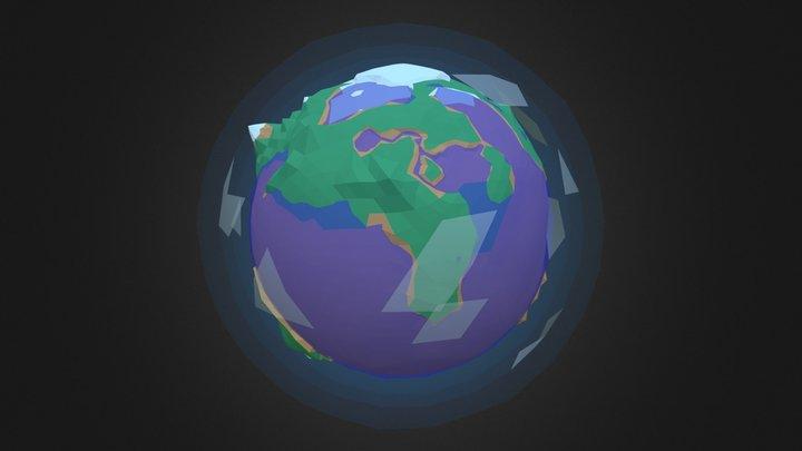 Low Poly Planets - Rainforest 3D Model