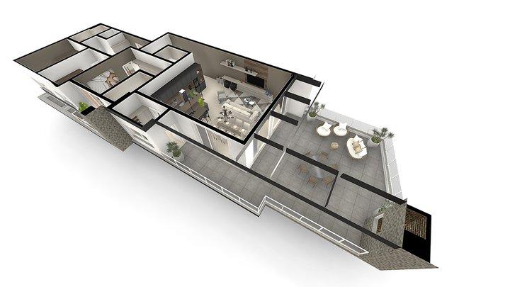 Atrium Residencial   Cobertura 3D Model