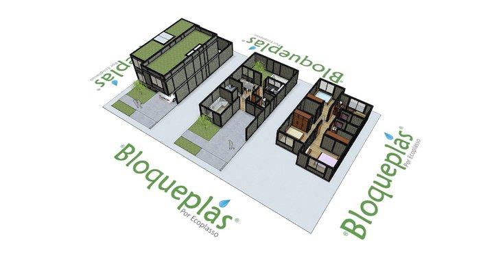 Casa en dos niveles Bloqueplas - Two story house 3D Model