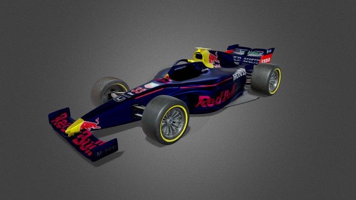Aston Martin formula 1 car 3D Model