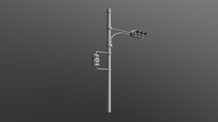 Traffic Light (Low Poly) 3D Model
