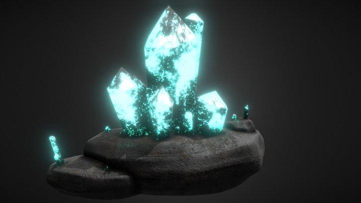 Sky blue crystal 3D Model