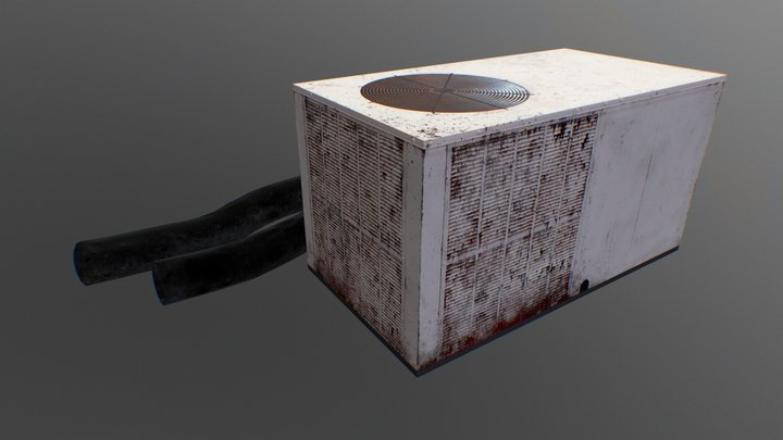 Old Rusty Air Contitioner 3D Model