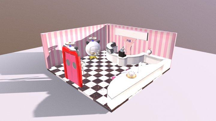 Interior Cafe/Bakery 3D Model