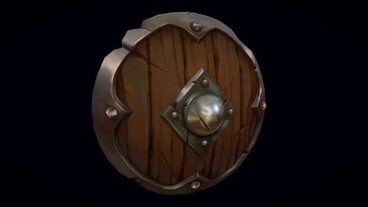 Wooden Shield 3D Model